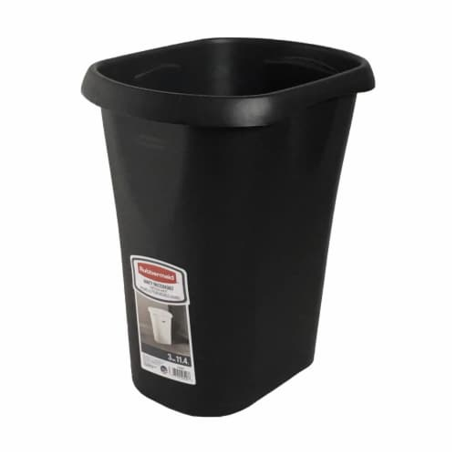 Rubbermaid 3 Gallon Plastic Home/Office Wastebasket Trash Can or Recycling Bin Perspective: front