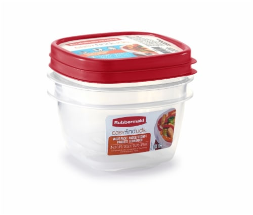 Rubbermaid 8 Piece Party Storage Pack With Easy Find Lids; Red//Clear