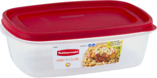 Rubbermaid Easy Find Lids Food Storage Container - Red Perspective: front