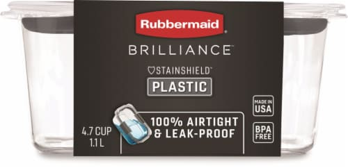 Rubbermaid Brilliance Leak-Proof Food Storage Container - Clear Perspective: front
