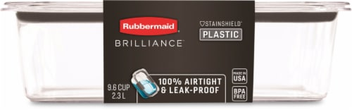 Rubbermaid Brilliance Leakproof Container - Clear Perspective: front