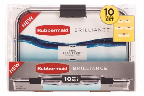 Rubbermaid Brilliance Container Set - Clear Perspective: front