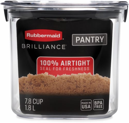 Rubbermaid Brilliance Pantry Organization Brown Sugar Container - Clear Perspective: front
