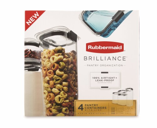 Rubbermaid Brilliance Pantry Container Set - Clear Perspective: front