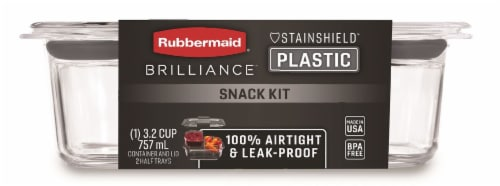 Rubbermaid Brilliance Snack Container Kit - Clear Perspective: front