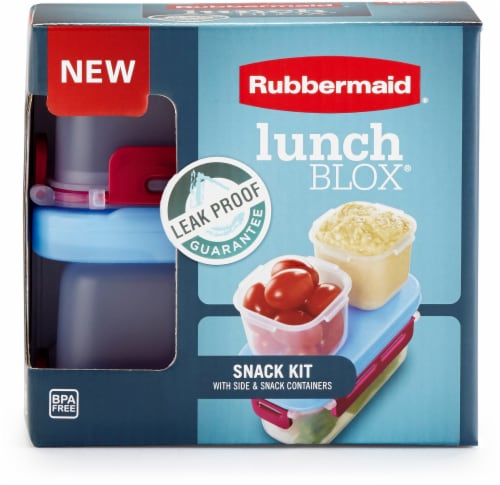 Rubbermaid LunchBlox® Leak-Proof Snack Container Kit - Red/Blue/Clear Perspective: front