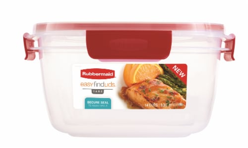 Rubbermaid Easy Find Lids Tupperware Perspective: front