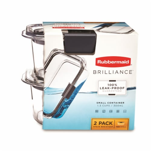 Rubbermaid Brilliance Small Food Containers - Clear Perspective: front