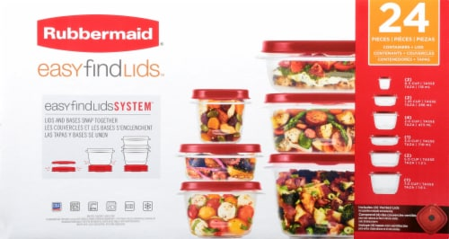 Rubbermaid Easy Find Lids Food Storage Containers Set Perspective: front