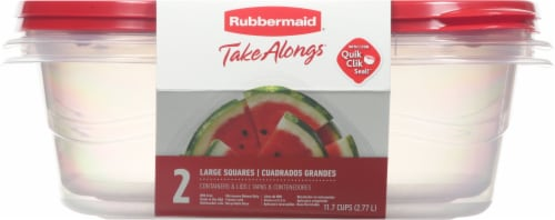 Rubbermaid TakeAlongs Large Square Containers & Lids Perspective: front
