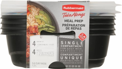 Rubbermaid Take Alongs Meal Prep Containers 4 Pack Perspective: front