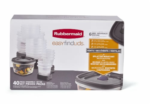 Rubbermaid Easy Find Lids Food Storage Container Perspective: front