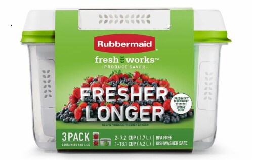 Rubbermaid Freshworks Produce Saver Container Set Perspective: front