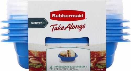 Rubbermaid® Take Alongs On The Go Square Containers Perspective: front