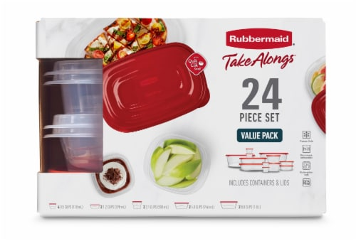 Rubbermaid Take Alongs Container Value Pack - Ruby Perspective: front