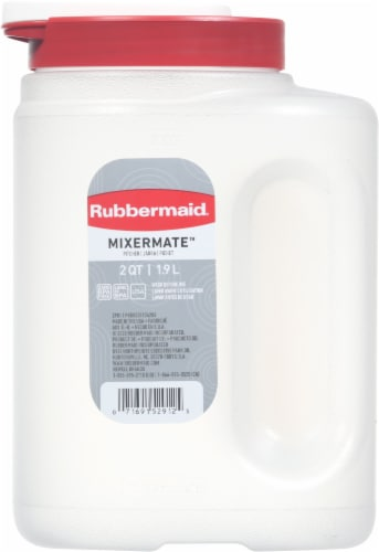 Rubbermaid Mixermate Pitcher - Clear/Red Perspective: front