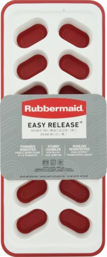 Rubbermaid® Flexible Ice Cube Tray - Racer Red Perspective: front