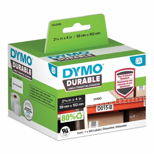Dymo Label Tape,Polypropylene,4  L,2-5/16  W Perspective: front