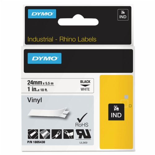"""Dymo Label Tape Cartridge,Vinyl,18 ft. L,1"""" W HAWA 1805430 Perspective: front"""