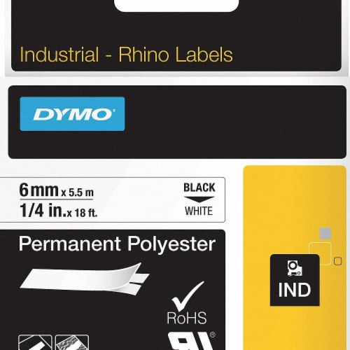 Dymo Label Tape Cartridge,18 ft L,1/4  W  1805442 Perspective: front