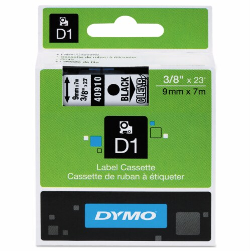 DYMO Tape,Cartridge,3/8,Bk/Clr 40910 Perspective: front