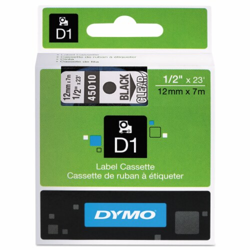Dymo Label Tape Cartridge,23 ft. L,1/2  W  45010 Perspective: front