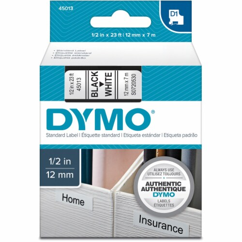 Dymo Label Tape Cartridge,23 ft. L,1/2  W  45013 Perspective: front