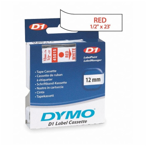 """Dymo Label Tape Cartridge,23 ft. L,1/2"""" W HAWA 45015 Perspective: front"""