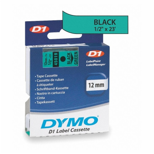Dymo Label Tape Cartridge,23 ft. L,1/2  W  45019 Perspective: front