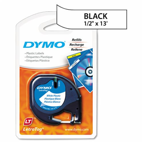 Dymo LetraTag Plastic Label Refills - White Perspective: front