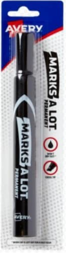 Avery Marks-a-Lot Chisel Point Permanent Marker - Black Perspective: front