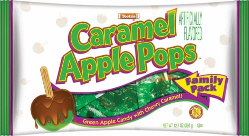 Tootsie Caramel Apple Pops Family Pack Perspective: front