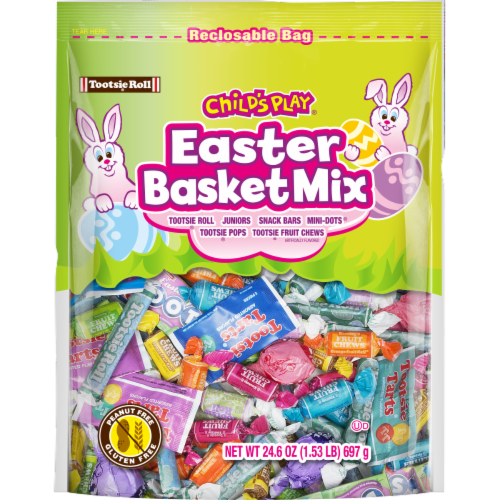 Tootsie Roll Child's Play Easter Basket Mix Perspective: front
