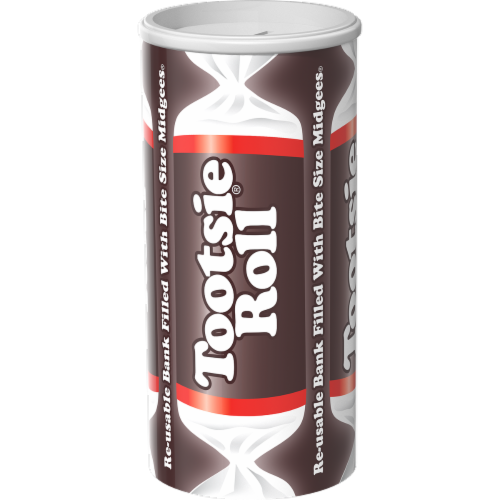 Tootsie Roll Midgees Bank Perspective: front