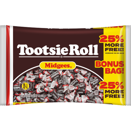 Tootsie Roll Midgies Candy Perspective: front