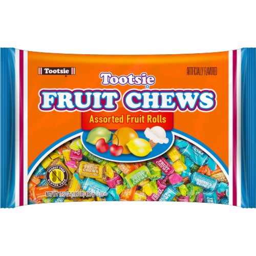 Tootsie Fruit Chews Candy Perspective: front