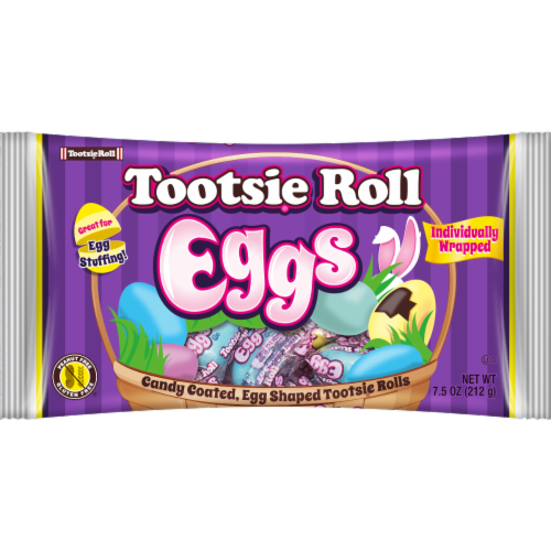 Tootsie Roll Easter Eggs Perspective: front