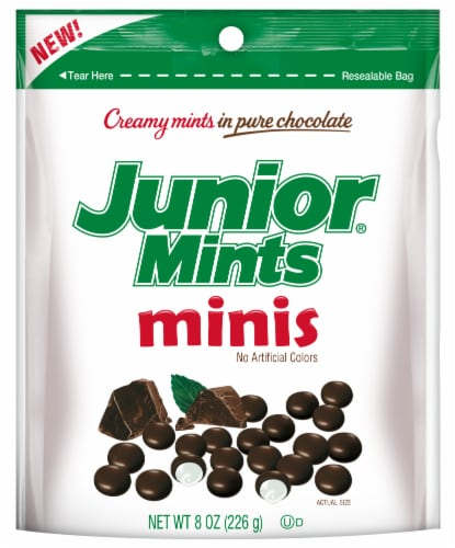 Junior Mints Minis Perspective: front