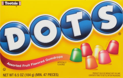 DOTS Assorted Fruit Flavored Gumdrops Theater Box Perspective: front
