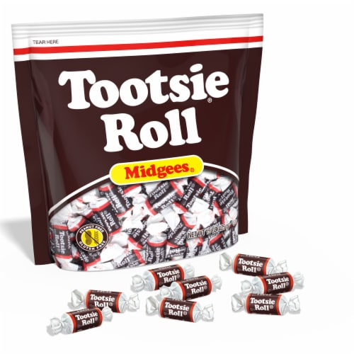 Tootsie Roll Candy Bag Perspective: front