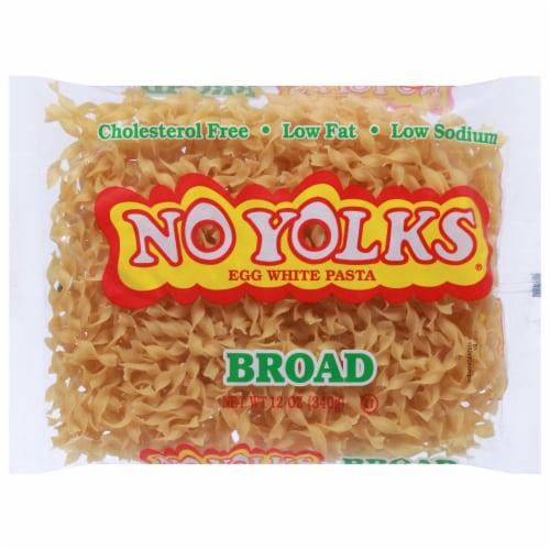 No Yolks Broad Egg Noodles Pasta Perspective: front