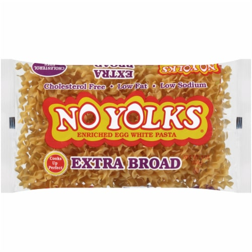 No Yolks Extra Broad Egg Noodles Perspective: front