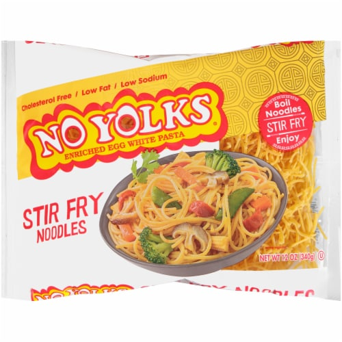 No Yolks Stir Fry Noodles Perspective: front
