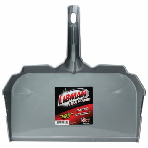 Libman Industrial High Power Dustpan - Gray Perspective: front