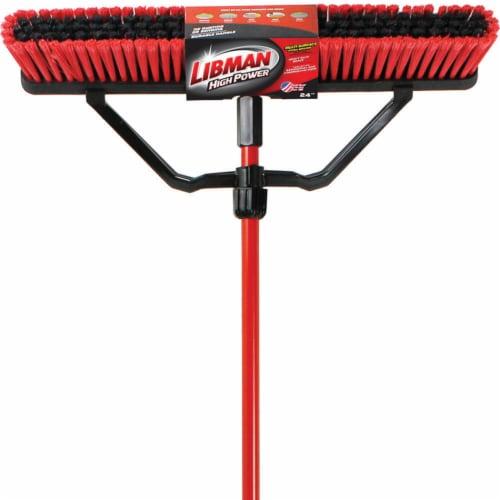Libman® Heavy-Duty Outdoor Broom - Red/Black Perspective: front