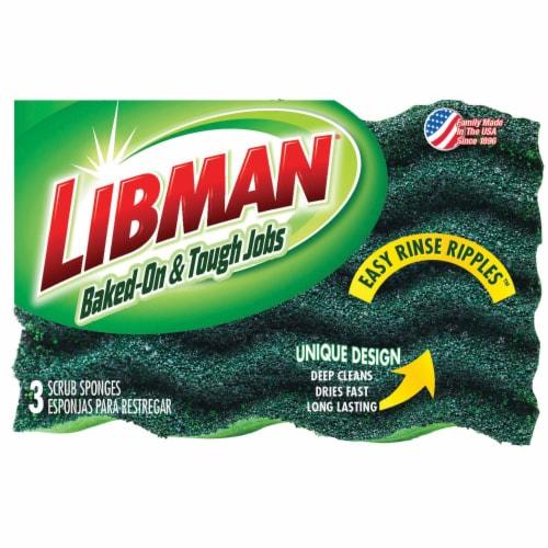 Libman® Heavy Duty Scrub Sponges - Green Perspective: front