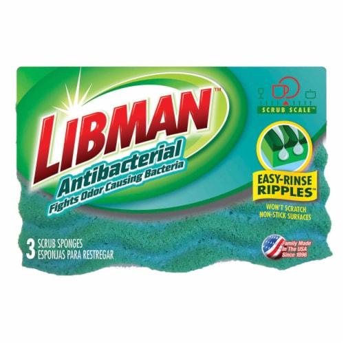 Libman® Antibacterial Scrub Sponges Perspective: front