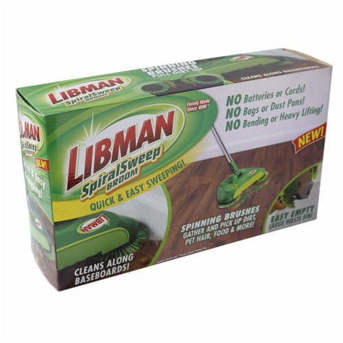 Libman® Spiral Sweep Broom Perspective: front