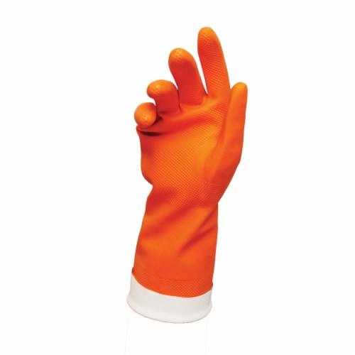 Libman® Premium Reusable Latex Gloves - Orange Perspective: front