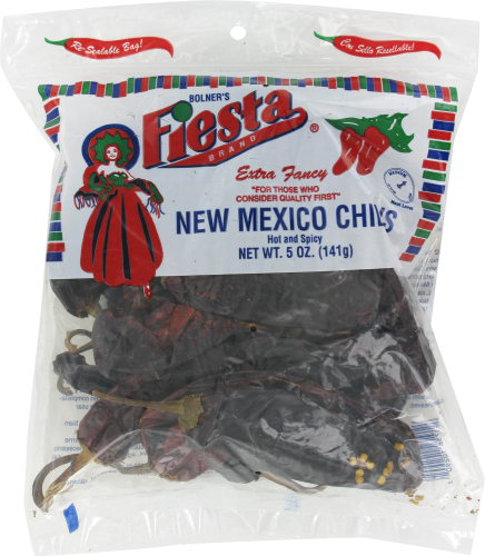 Fiesta New Mexico Chili Pods Hot and Spicy Perspective: front